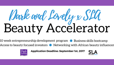 Applications open for Dark and Lovely x SLA Beauty Accelerator