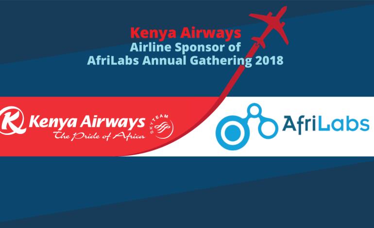 Kenya Airways; Airline Partner of  AfriLabs Annual Gathering 2018