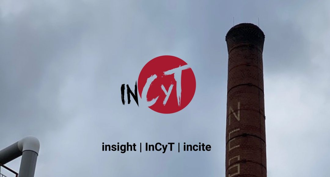 InCyT logo with smokestack from old factry