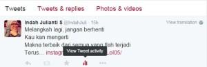 twitt activity