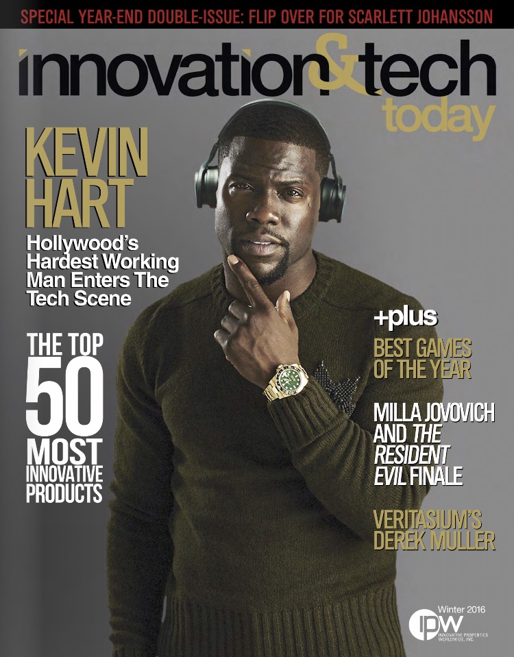 Kevin Hart Covers Winter 1617 Issue of Innovation  Tech