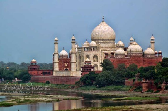 Taj Mahal View from Agra Fort
