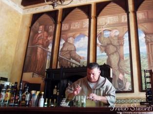 A bar-monk prepared our mojito