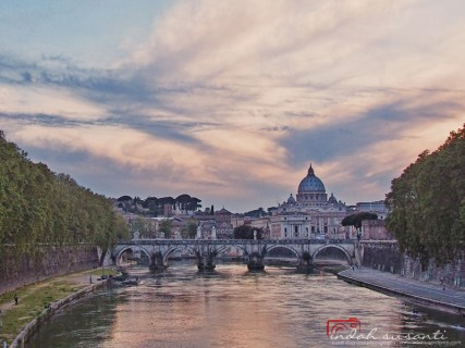 the Basilica of St. Peter and Ponte Sant'Angelo