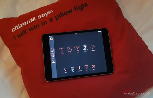 iPad to control the room functions
