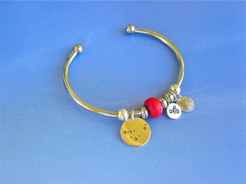 Capricorn charm bangle 1