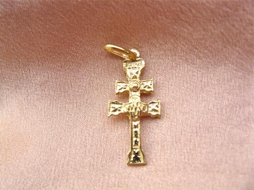 Gold Caravaca cross