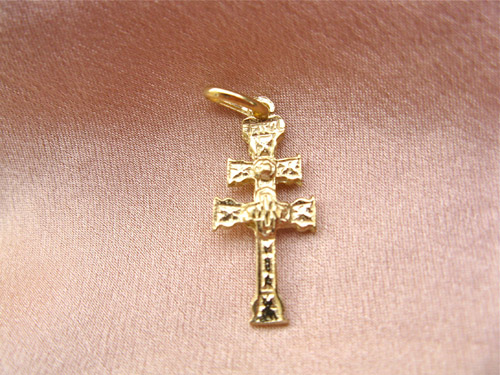 Gold Caravaca cross