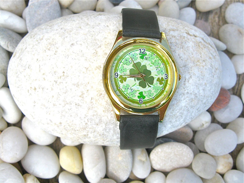 Lucky 4 leaf clover watch
