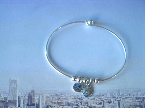 Sagittarius zodiac bracelet with shell