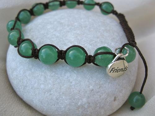 Aventurine Shambala friends bracelet