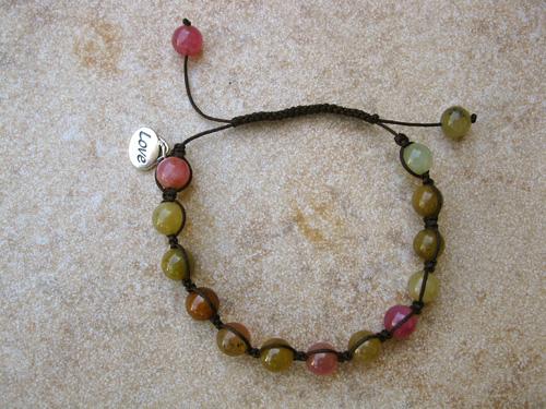 Jade Shambala love bracelet