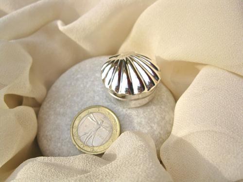Scallop shell christening box