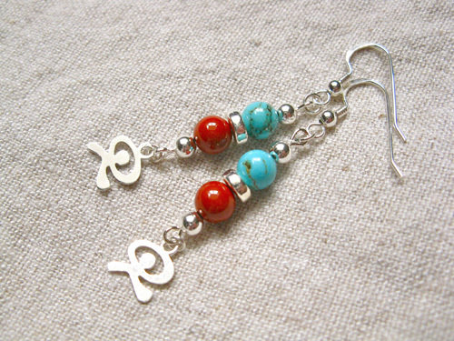 Indalo earrings for protection