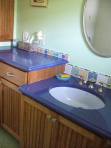 Zodiaq countertops with tile backsplash