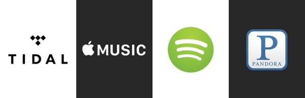 Spotify, Tidal, Apple Music, Pandora : the 4 leading music streaming companies in the USA