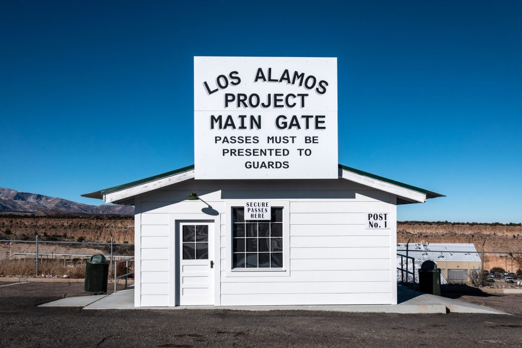 Main gate at Los Alamos