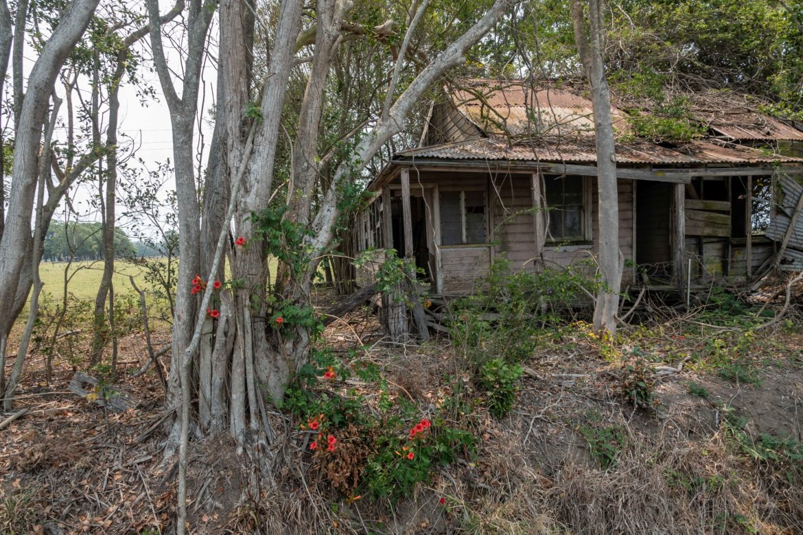 Deserted house inland form Byron Bay.
