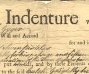 Contracts Indentured Servants