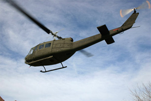 Huey in flight