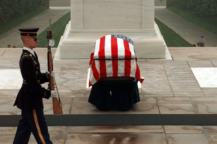 Fallen soldier in flag-draped coffin: the ultimate sacrifice