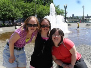 Eleanor and friends at the Portland waterfront