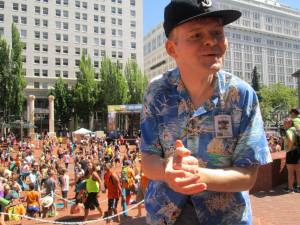 Paul at a World Record event in downtown Portland