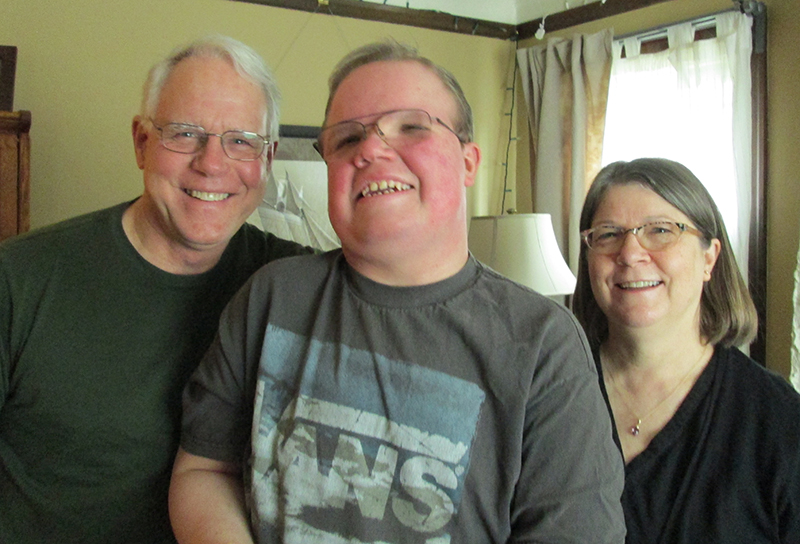 Independence NW Customer Jackson Fogleman (center) with his dad, Bill Fogleman (left) and mom, Claudia Walker (right)