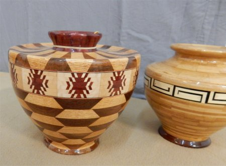 Segmented vessels finished with CA glue by Mike McReynolds