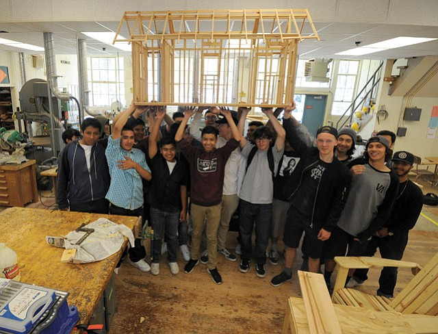High School Kids Building Tiny Homes