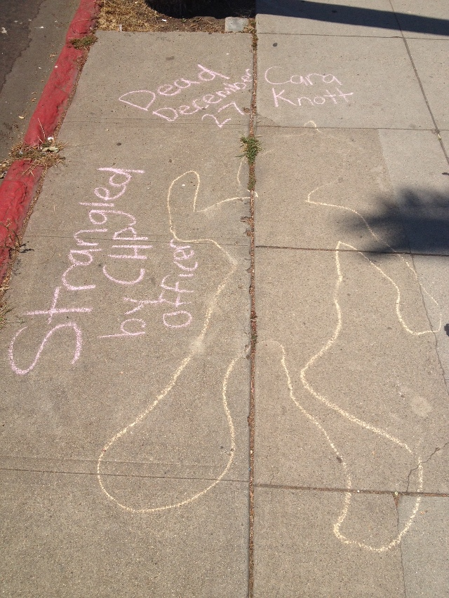 Chalk Body Outlines Appear On City Sidewalks
