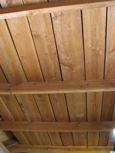 underside of wood deck