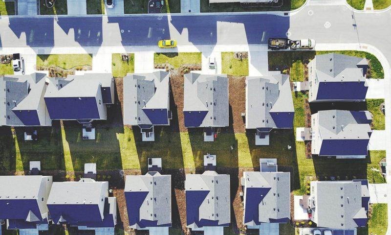HOA subdivision aerial view
