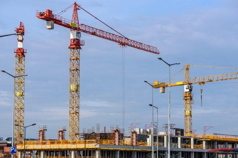 Cranes new condo construction