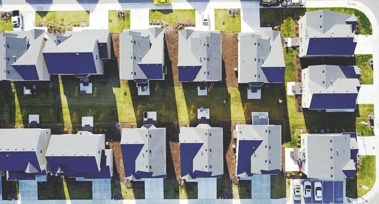 HOA suburb aerial view
