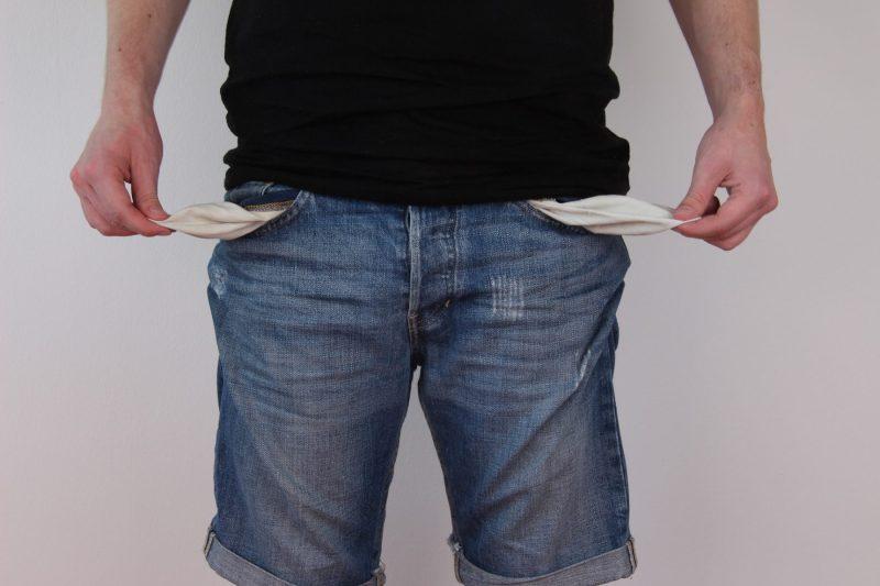 No money empty pockets poor