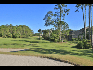 golf course view of back yards