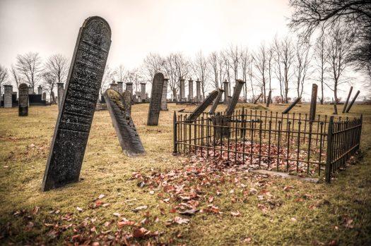 Tombstones cemetery