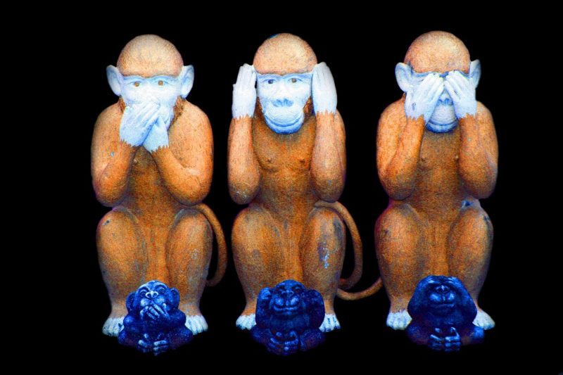 monkey see no evil hear no evil say no