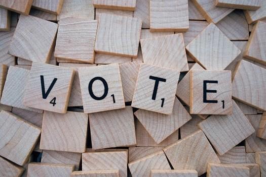 Vote HOA election scrabble