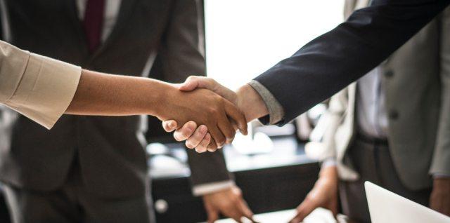 Hand shake development agreement contract