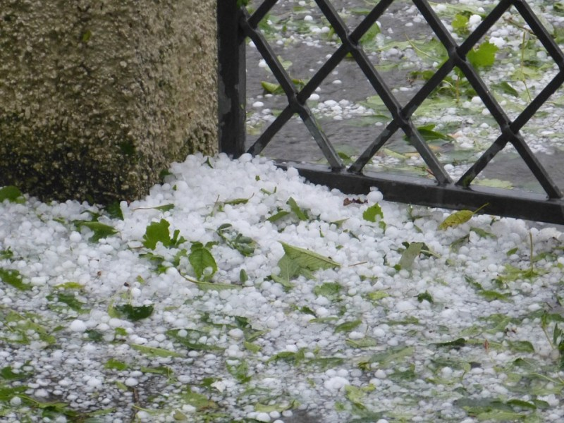 Hail storm accumulation