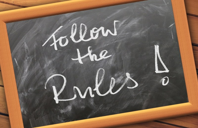Follow the rules restrictions blackboard
