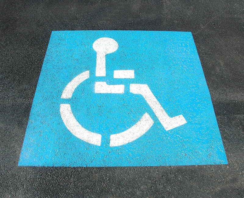 Handicapped disabled parking space