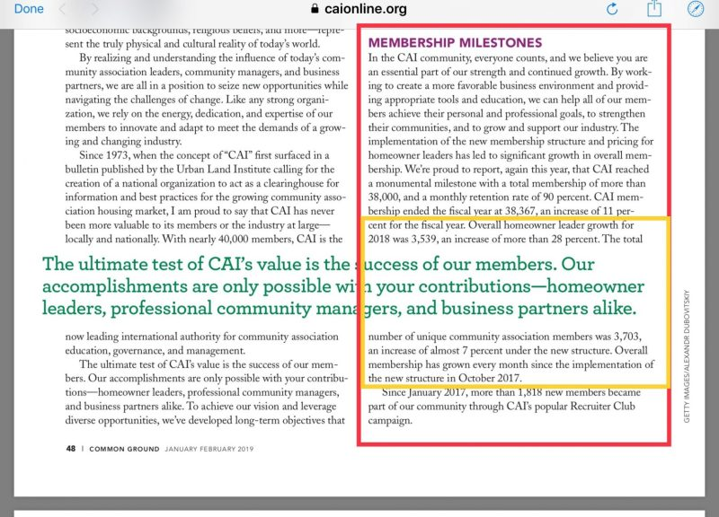 CAI 2017 annual report