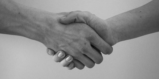 Hand shake agreement mediation
