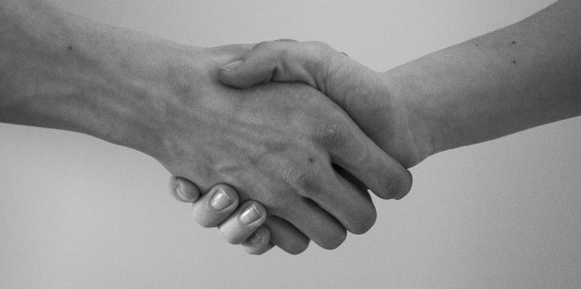 Hand shake agreement mediation