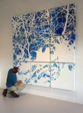 """Daniel Kohn inspects """"Network 11, To Mobius and Hokusai"""" 2015"""