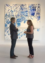 Bolek Ryzinski & gallerist Cynthia Reeves at the exhibition opening