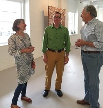 Daniel Kohn in conversation with Terry & Jay Wise at his exhibition opening